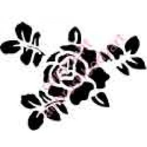 0222 rose re-usable stencil